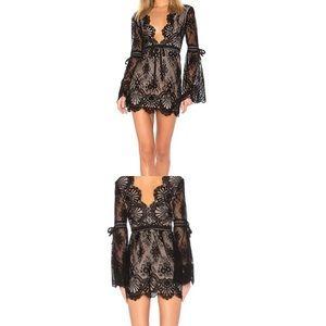 Lover+Friends Sugar Baby Lace Mini Dress Black